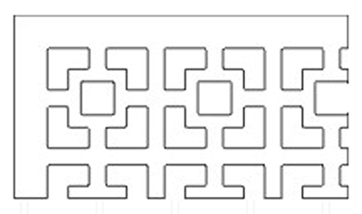 square-link-pattern-grille